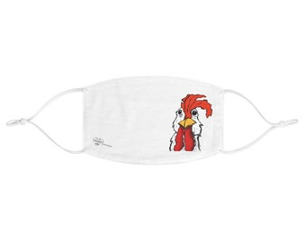 Mr. Chicken Fabric Face Mask - Adjustable