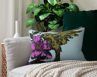 Hey Pretty  (Sweet Bird) Lumbar Pillow