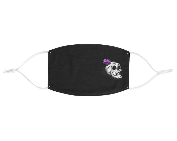 Clarice Flower Skull Adjustable Fabric Face Mask