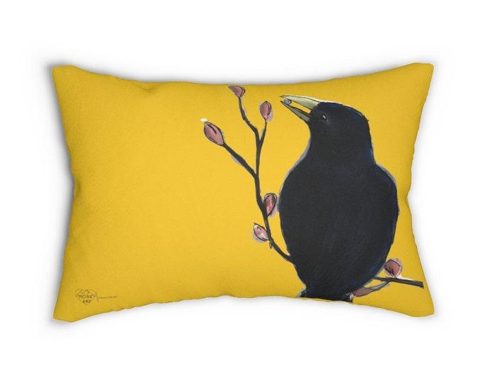 Ms. Mabel Yellow Cover + Lumbar Pillow Insert