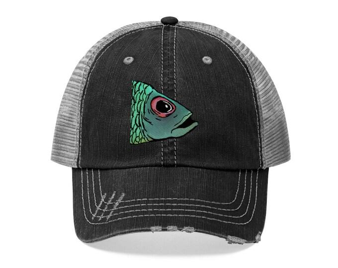 Allen Fish Head Distressed Hat
