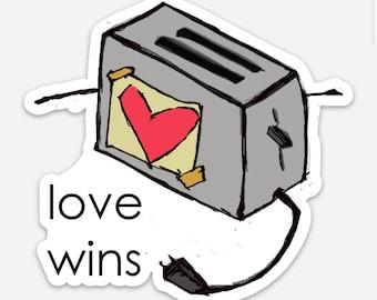 Love Wins - Ro is love - Vinyl Sticker