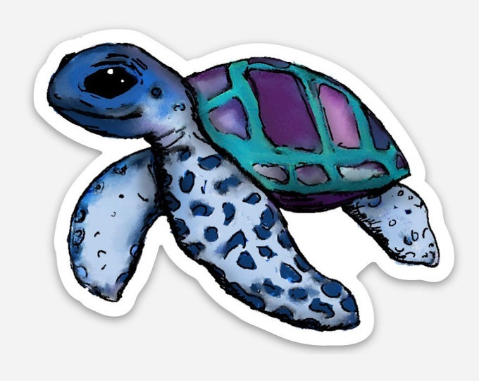 Janis - (sea turtle) -Vinyl Sticker