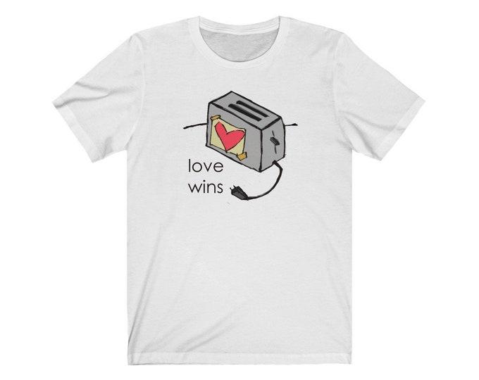 Love Wins - Super Soft Crew Neck Jersey Short Sleeve Tee (Unisex)
