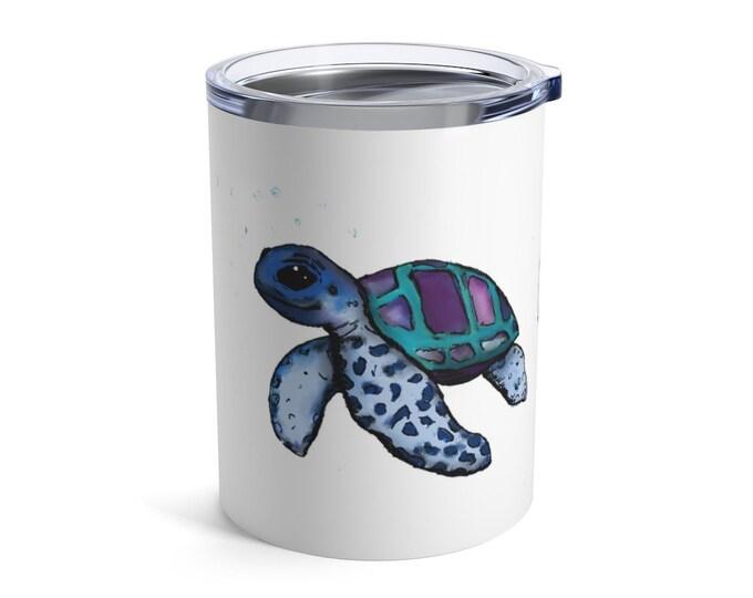 Janis (sea turtle) Insulated White Tumbler 10oz