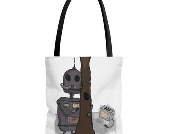 Row and Yoshimi Black Handle Tote Bag