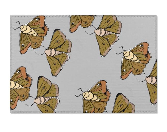 Moth Babies - Gray Area Rug