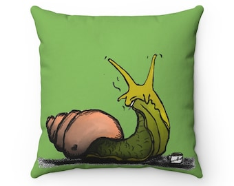 Carol - Forest Green Square Pillow