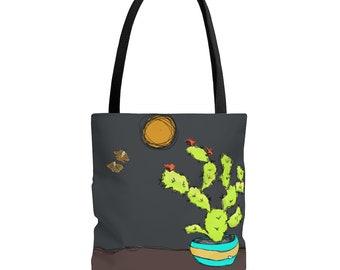 Sweet Tart & Moth Babies  Black Handle Tote Bag