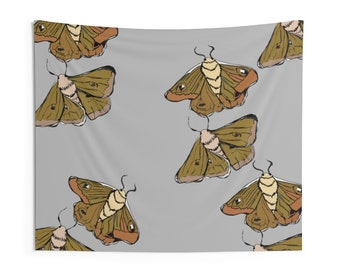Moth Babies Indoor Wall Tapestries