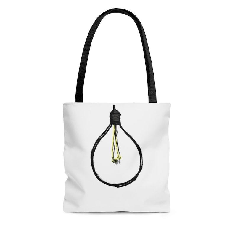Light Bulb Black HandleTote Bag