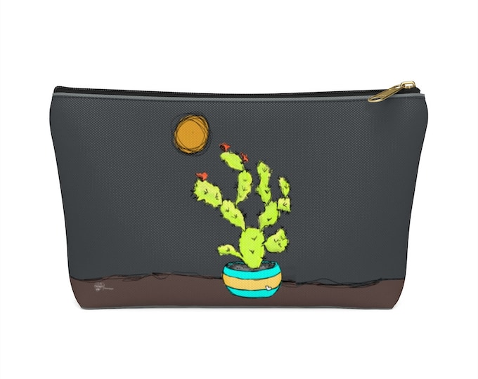 Sweet Tart  (Cactus) - zippered accessory pouch