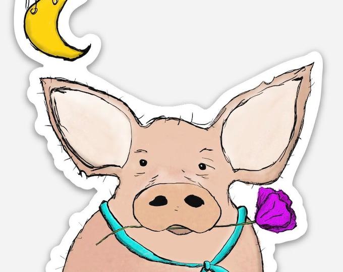 Kevin Bacon ( pig )  - Vinyl Sticker