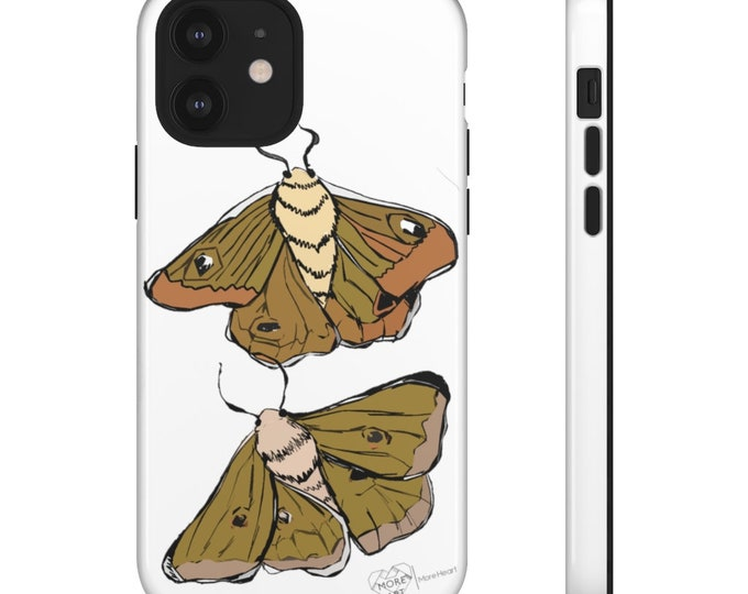 Moth Babies -  Tough Phone Case in White