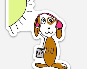 Stella ( dog ) vinyl sticker