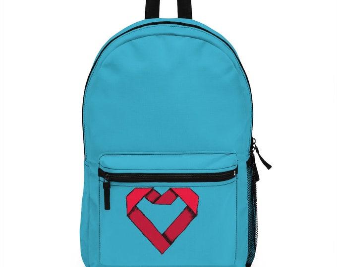 Origami Heart - Ocean Blue Back pack
