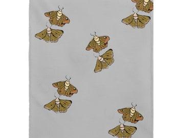 Moth Babies Super Cozy Velveteen Plush Blanket