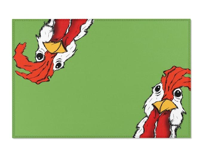 Mr. Chicken Green Area Rugs