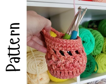 PDF PATTERN ONLY, Crochet Hook Holder Hanger Pattern, Download Only,  Small Hanging Bag Pattern, Crochet Pattern, Boho Pattern
