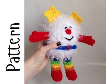 Rainbow Brite Sprite Amigurumi Plush Pattern, PDF Pattern Only, Crochet Pattern Download Only, Retro Crochet Pattern, 80s Toys