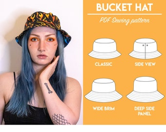 """PDF Bucket Hat Sewing Pattern 
