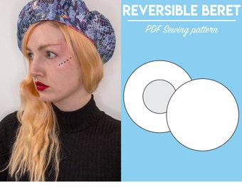 """PDF Reversible Beret Sewing Pattern 