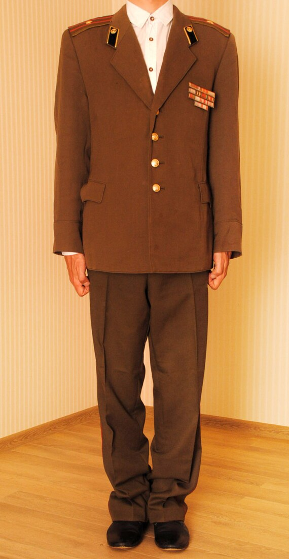 Soviet Army Piping Troops Major Uniform USSR Jack… - image 4