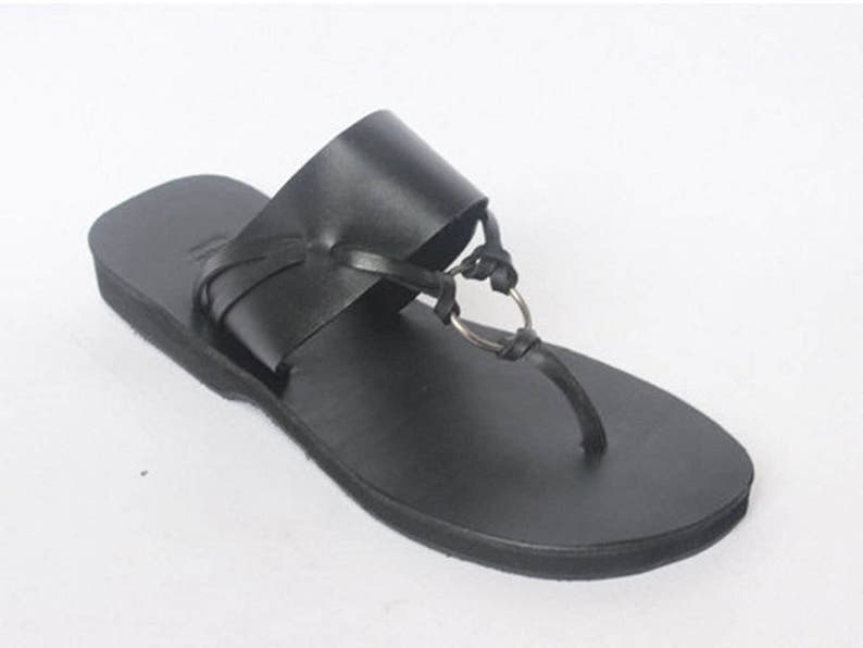 0fe8213686c ALKA leather slide on sandals  thong sandals  leather flip