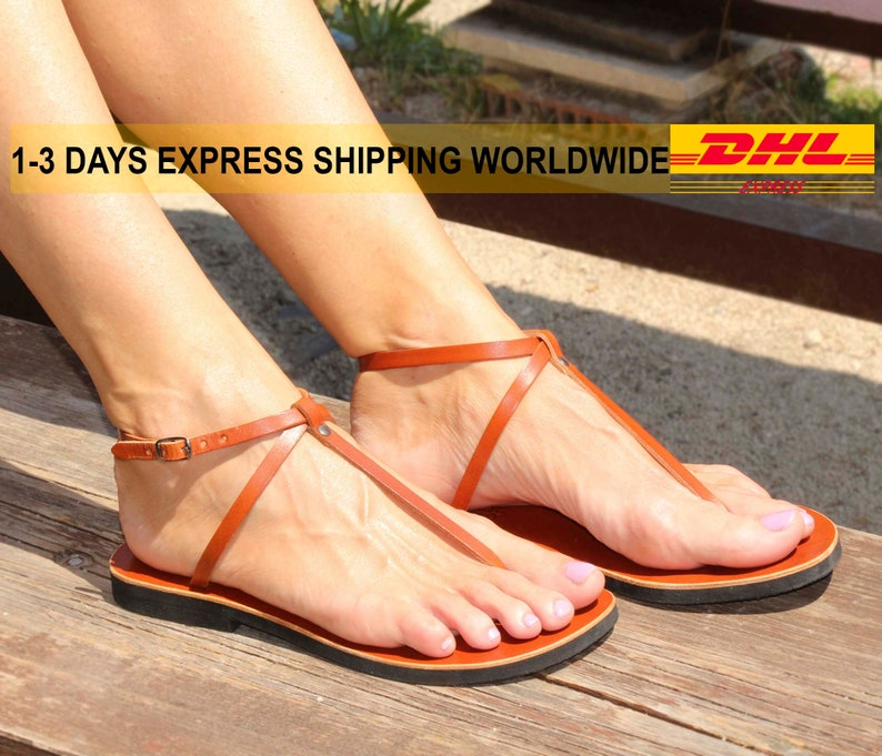 c5160df87b016 SIN Leather thong sandals/ sexy sandals/ barefoot sandals/ ankle strap  flats/ unisex delicate sandals/ slingback sandals