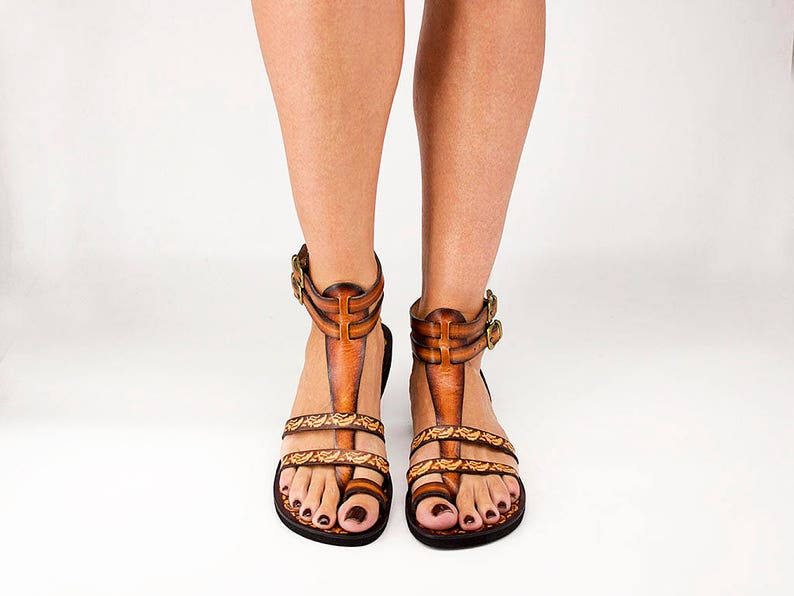 6a3490ba5740 FASCINATION handcrafted men women gladiator sandals  leather