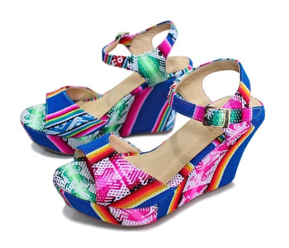 cff347796163 Peep Toe High Heels Wedge Sandals Unique Platform Shoes Made