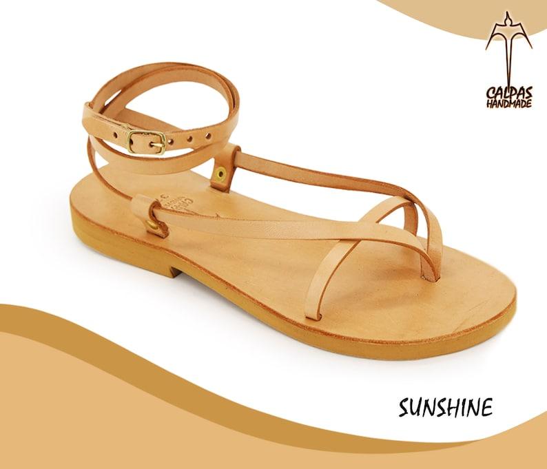 c57a19eebb21 SUNSHINE Leather sandals  unisex sandals  strappy sandals