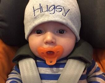 Custom Baby Hat/ Personalized Baby Hat / knit hat / monogram hat/ newborn hat / hospital hat / baby boy / baby shower / baby gift