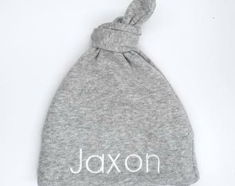 Custom Baby Hat/ Personalized Baby Hat / knit hat / monogram hat/ newborn hat / baby girl / baby boy / baby shower / baby gift