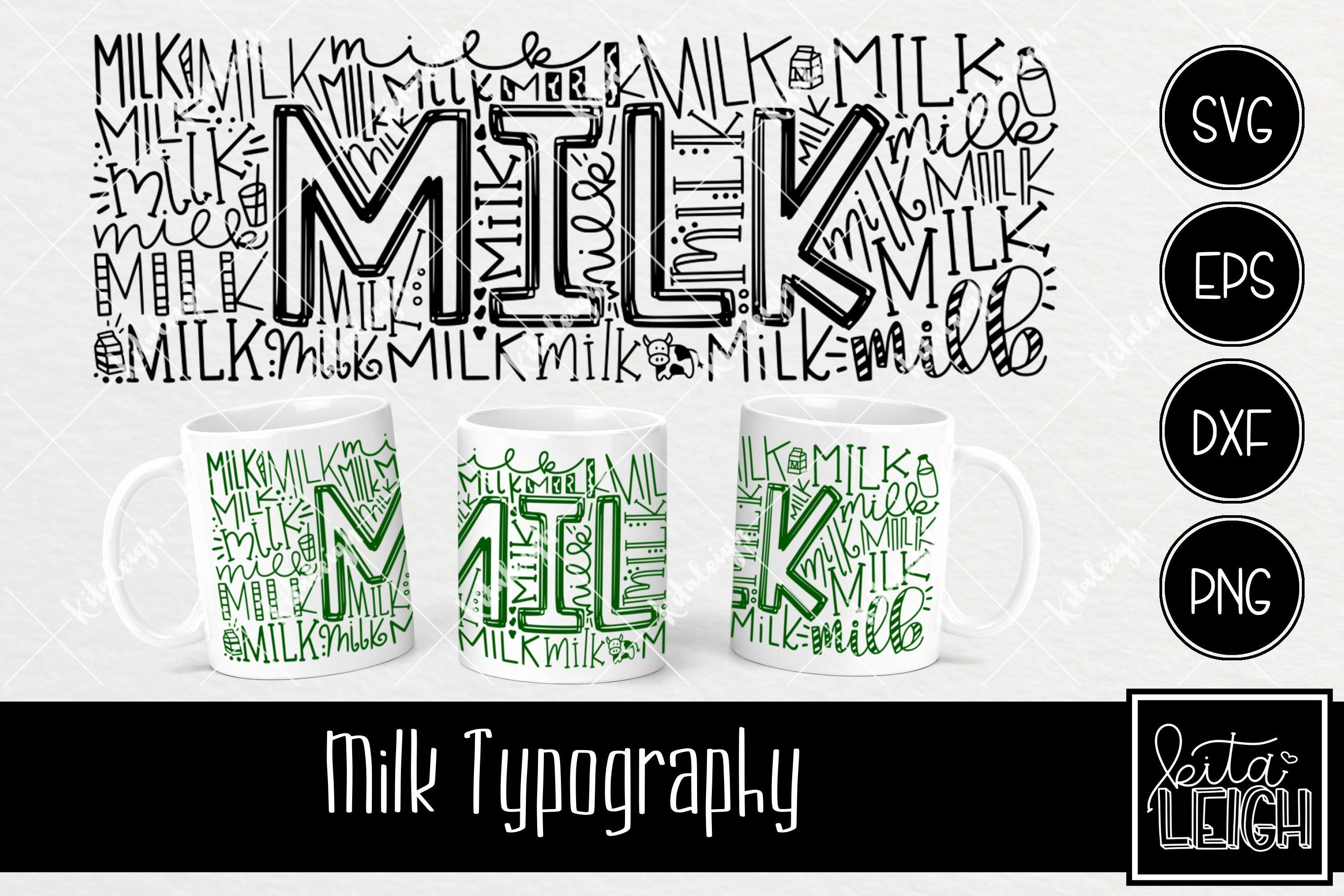 Christmas Santa S Milk Typography Instant Download Dxf Etsy