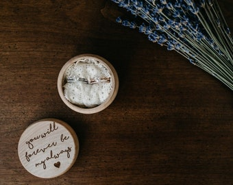 You Will Forever Be My Always Ring Box | Free Shipping