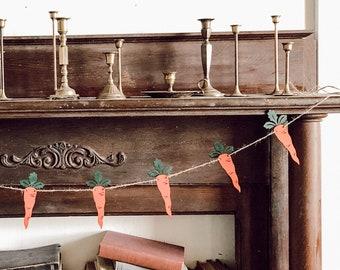 Carrot Banner | Easter Banner | Spring Banner | Easter Decor | Carrot Decor | Carrot Garland | Easter Garland
