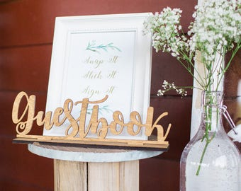 Guestbook Sign Wedding Guest Book Sign