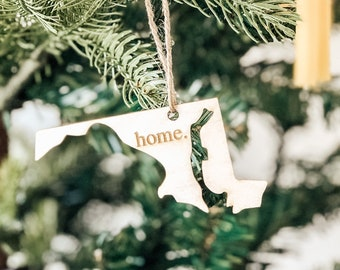 Maryland Home Ornament | Christmas Ornament | Maryland State | State Ornament