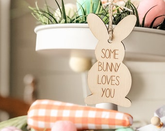 Some Bunny Loves You | Easter Bunny Gift Tag | Easter Gift Tag | Easter Gift Basket