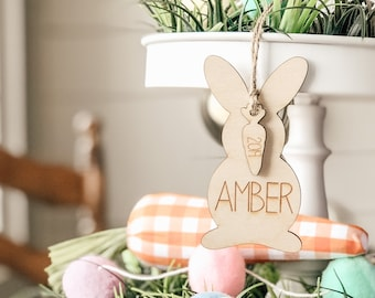 Easter Name Tag | Easter Bunny Gift Tag | Easter Gift Tag | Easter Gift Basket