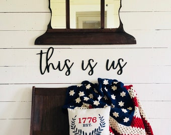 this is us Sign | Farmhouse Wall Sign | this is us wall sign | Farmhouse Decor