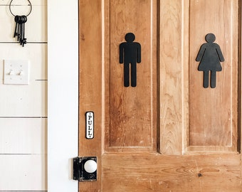 Man and Woman Bathroom Signs | Man Bathroom Sign | Woman Bathroom Sign | Farmhouse Bathroom Sign | Bathroom Sign