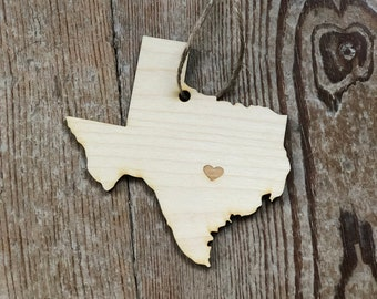 You Pick State Ornament | Wedding Favor | State Ornament | State Cutout