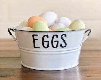 Eggs Container | Farmhouse Kitchen | Kitchen Storage Solutions | Farmhouse Home Decor