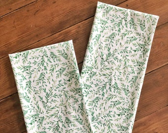 Greenery Kitchen Towel | Floral Print Hand Towel | Farmhouse Easter Decor | Easter Decor