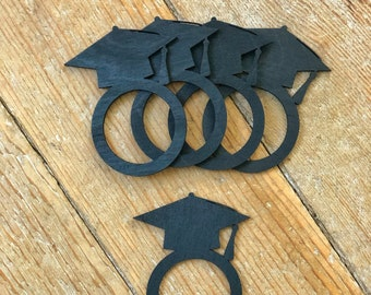 Graduation  Napkin Rings | Graduation Table Setting | Napkin Rings | Graduation Cap Napkin Ring