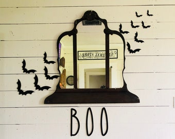 Flying Bats | Farmhouse Halloween | Halloween Wall Sign | Bat Cutouts | Free Shipping