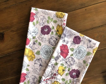 Spring Floral Kitchen Towel | Floral Print Hand Towel | Farmhouse Easter Decor | Easter Decor