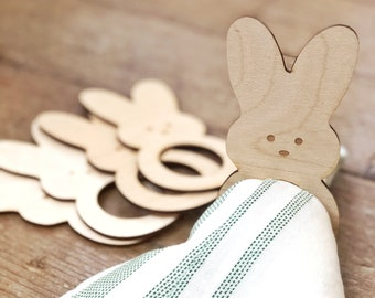 Peep Bunny Napkin Rings | Easter Table Setting | Easter Decor | Farmhouse Easter